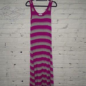Calvin Klein Maxi striped dress sleeveless size 6